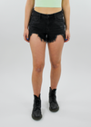 Paint It Black Shorts ★ Black Denim - Rock N Rags