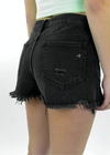Paint It Black Shorts ★ Washed Black - Rock N Rags