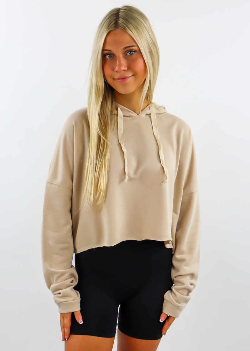 Back Home Cropped Sweatshirt ★ Tan