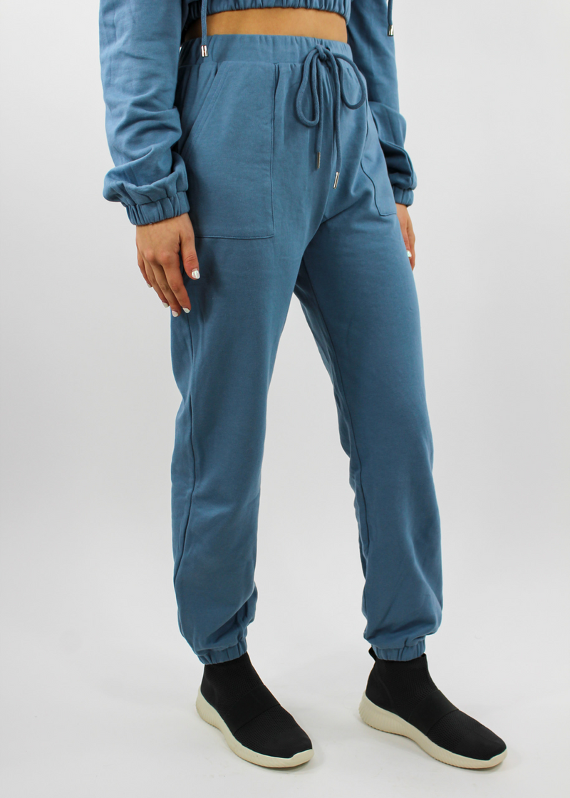 Sky's The Limit 2-Pocket Joggers ★ Dusty Blue - Rock N Rags