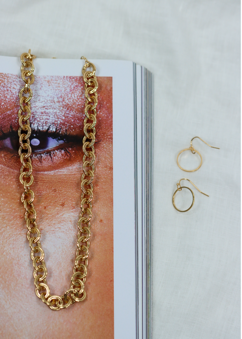 Circle Chain Necklace ★ Gold & Silver
