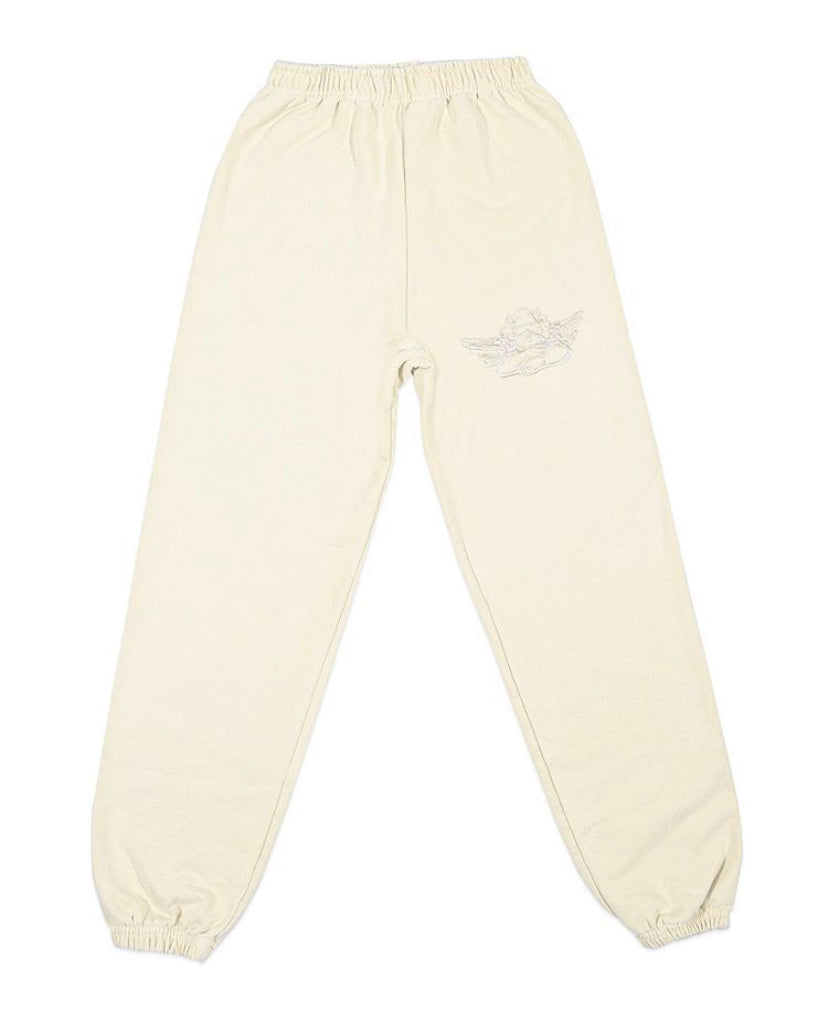 Boys Lie Ivory Embroidered Sweatpants