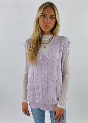 Dreamer Girl Sweater Vest ★ Lilac