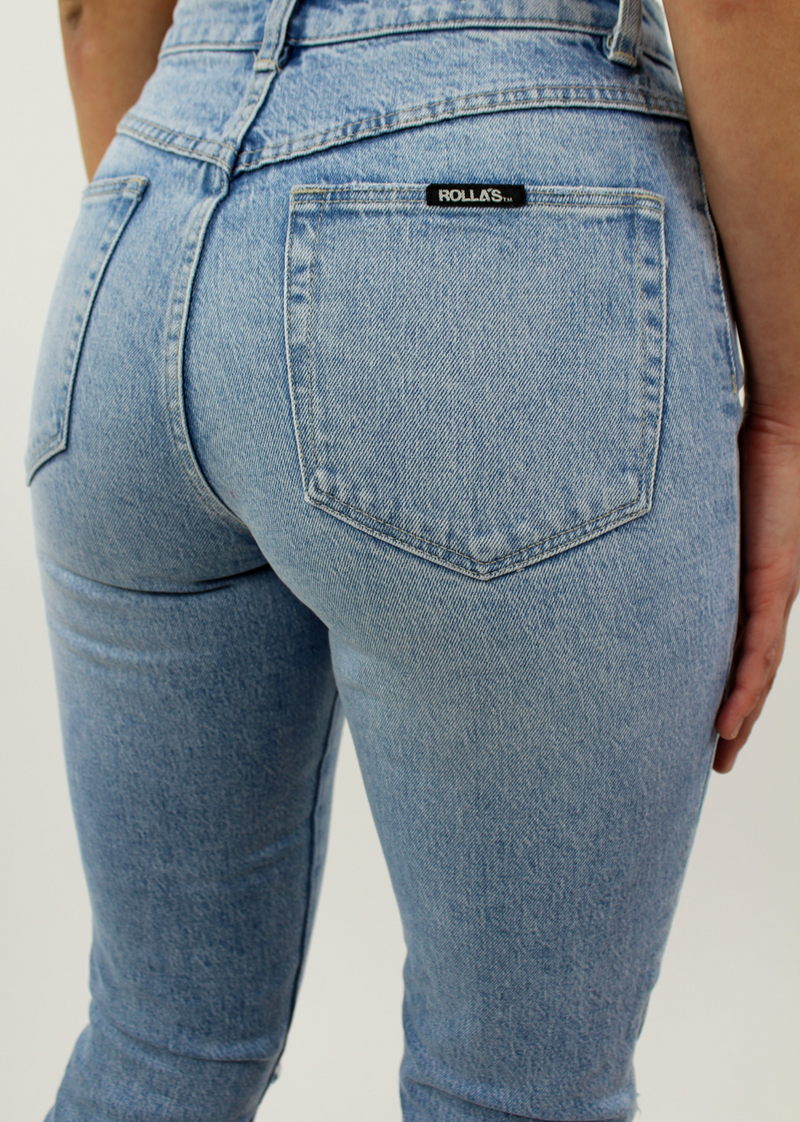 Rollas Miller Skinny Destroyed Jeans ★ Vintage Blue
