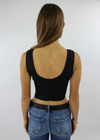 Take It Easy Crop Tank ★ Black - Rock N Rags