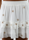 Dancing In The Moonlight Skirt ★ White & Gold - Rock N Rags