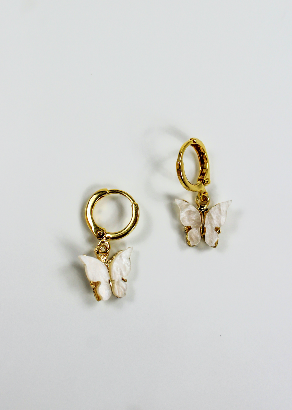 Butterfly Kisses Earrings ★ Ivory - Rock N Rags