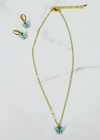 Butterfly Kisses Necklace ★ Teal - Rock N Rags