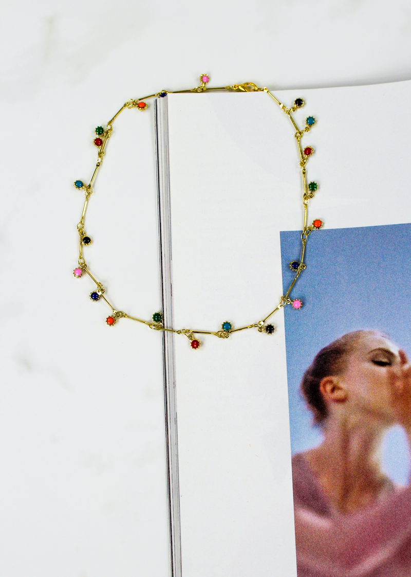 Drip Drop Choker ★ Rainbow - Rock N Rags
