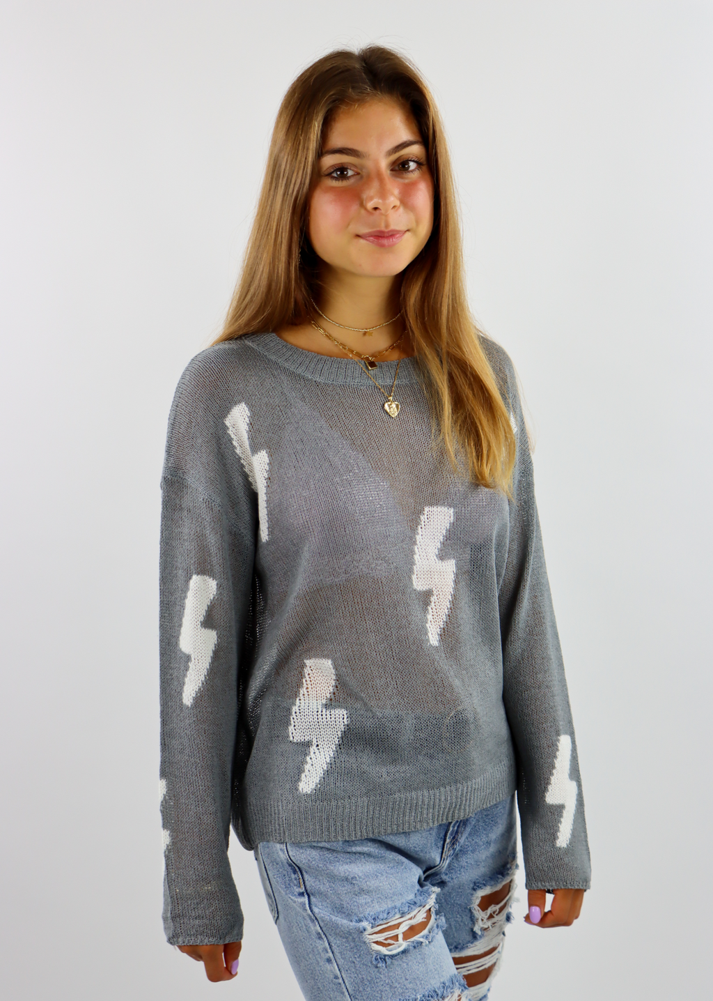White Lightning Sweater ★ Grey