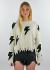 Thunderstruck Sweater ★ Cream - Rock N Rags