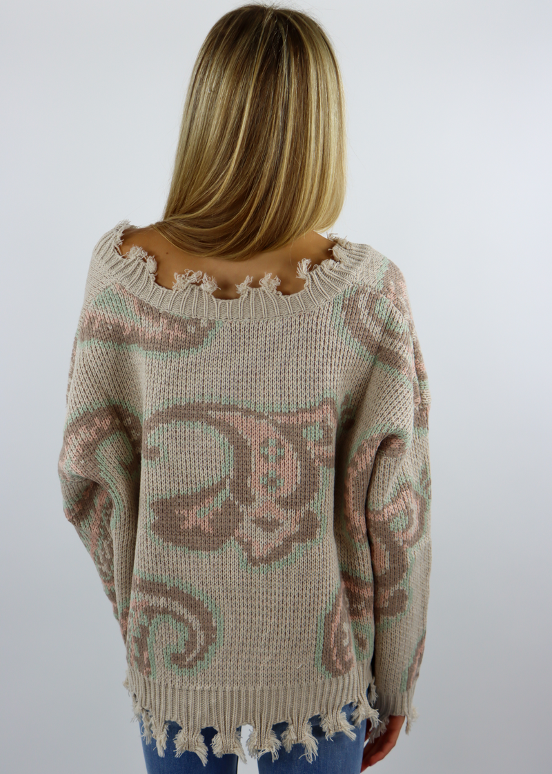 Paisley Sweater ★ Taupe
