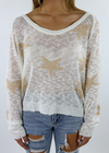 Star Of The Show Sweater ★ White - Rock N Rags
