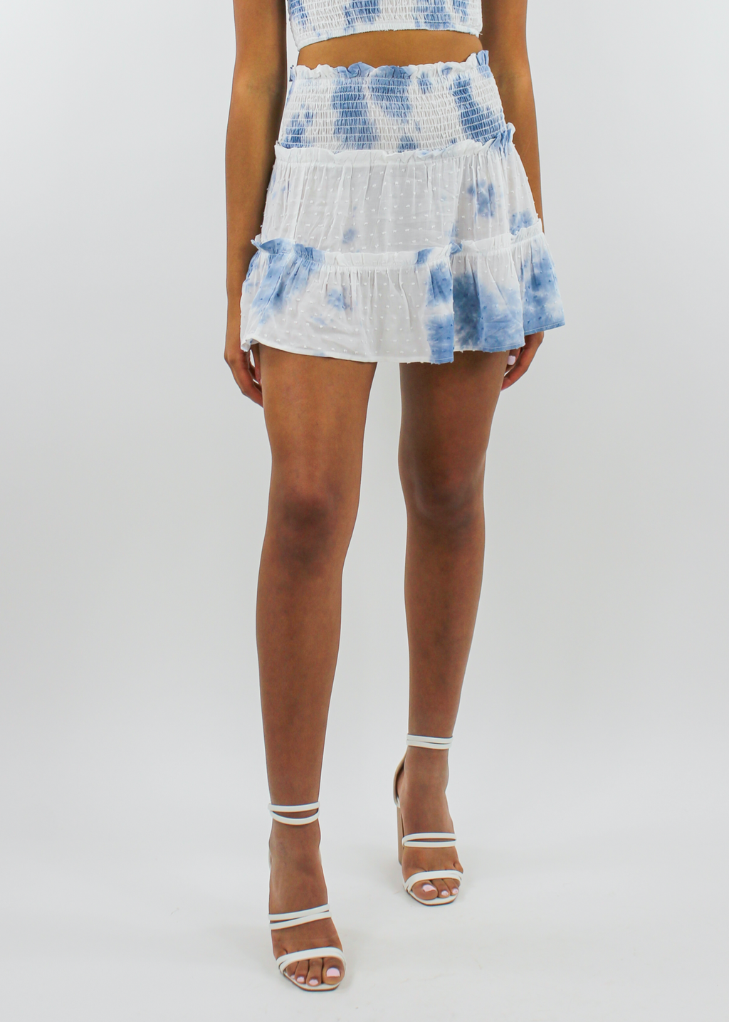 Staring At The Sun Skirt ★ Blue/White - Rock N Rags