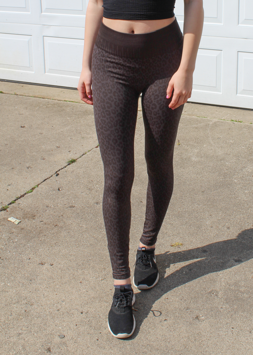 Cheetah Girl Leggings ★ Charcoal - Rock N Rags
