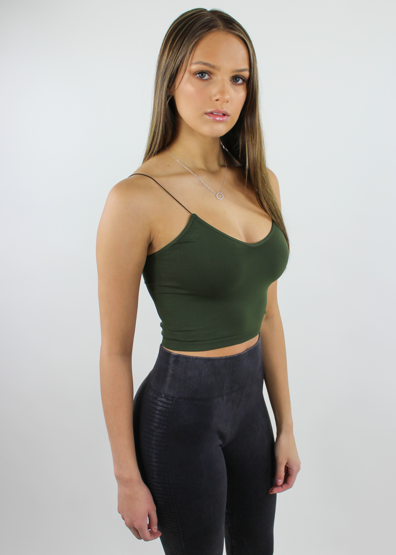 The Dreamer Tank ★ Olive Green - Rock N Rags