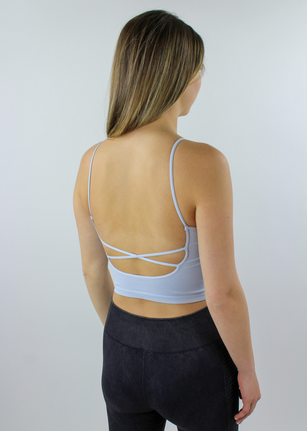 Work It Out Low Back Tank Top ★ Baby Blue