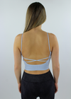 Work It Out Low Back Tank Top ★ Baby Blue - Rock N Rags