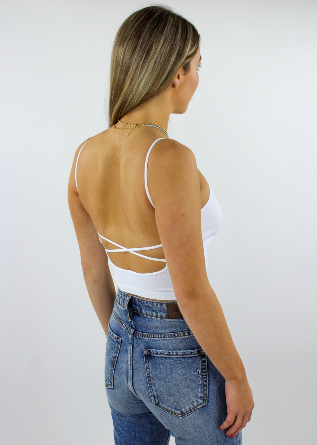 Work It Out Low Back Tank Top ★ White
