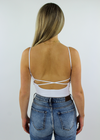 Work It Out Low Back Tank Top ★ White - Rock N Rags