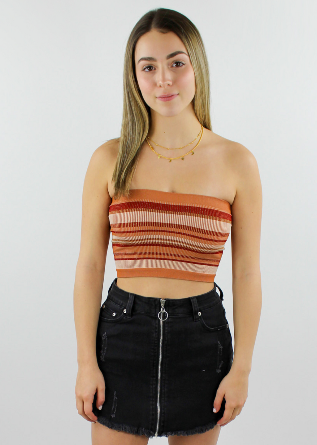 Moon River Tube Top ★ Red & Gold - Rock N Rags