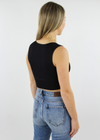 Take The Plunge V-Neck Crop Top ★ Black - Rock N Rags