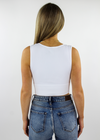 Take The Plunge V-Neck Crop Top ★ White - Rock N Rags