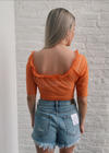 Sheer Love Mesh Top ★ Orange - Rock N Rags