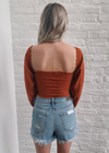 Hippie Chick Long Sleeve Top ★ Burnt Orange - Rock N Rags
