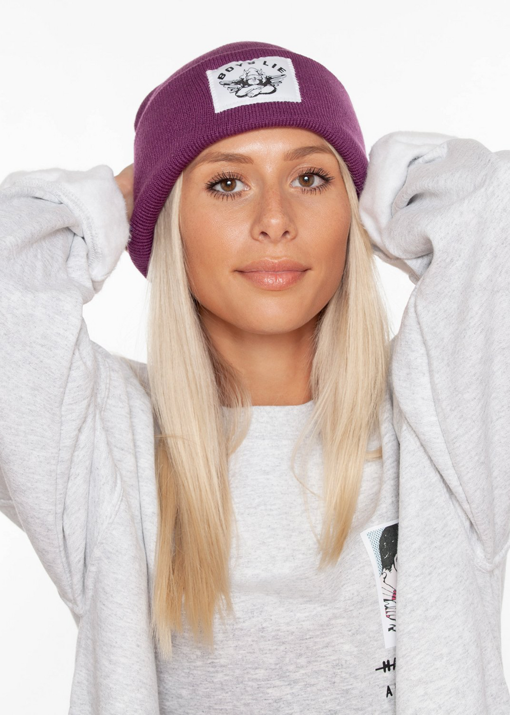 Boys Lie Beanie ★ Purple - Rock N Rags