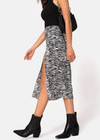 Animal Spirits Midi Skirt ★ Zebra