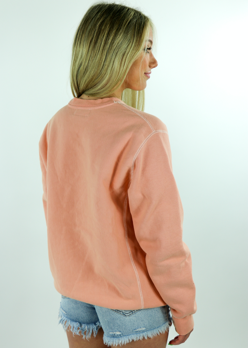 Shadow Hill Racing Crewneck ★ Peach - Rock N Rags