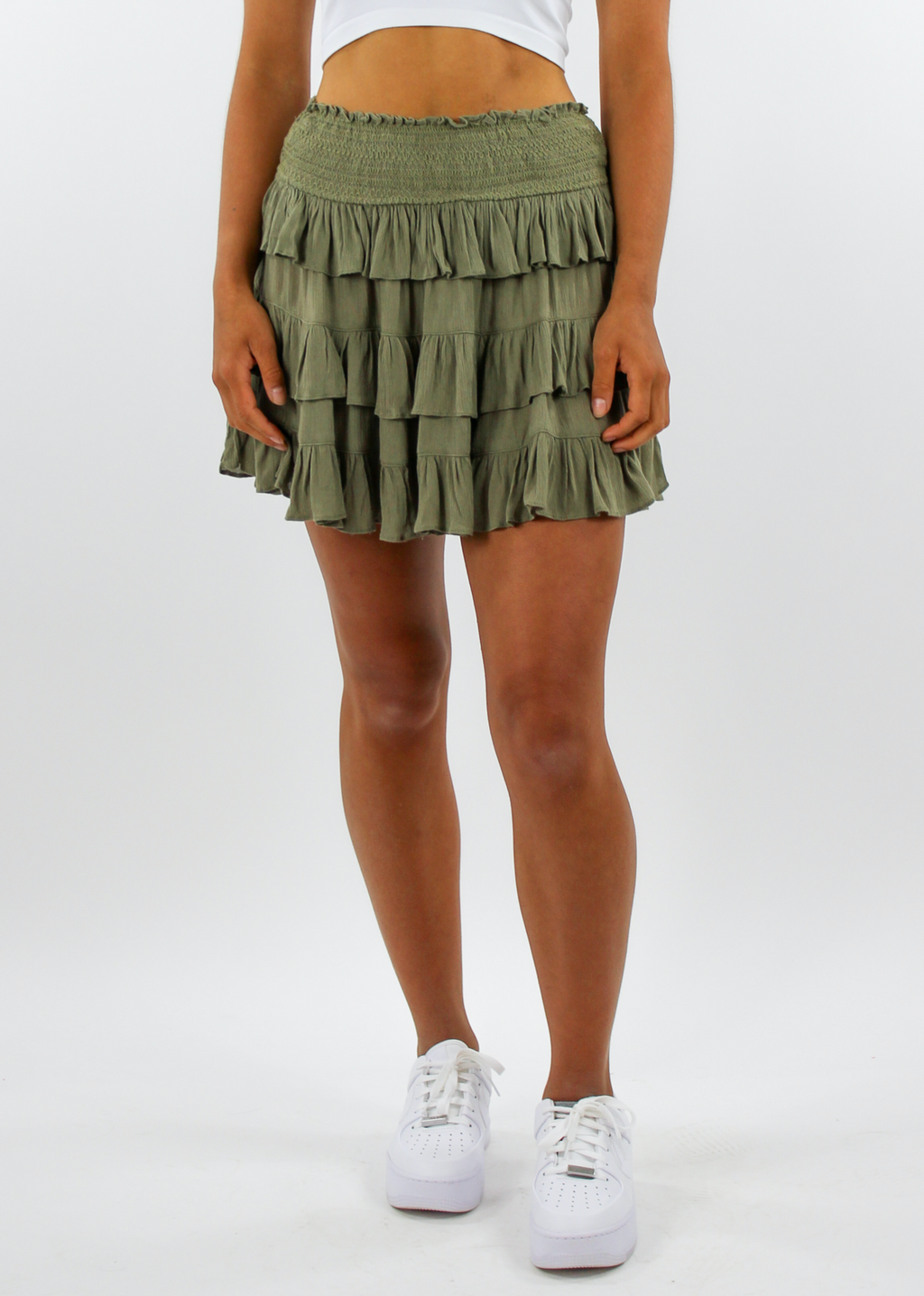 You And I Skirt ★ Olive Green - Rock N Rags