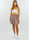 Born To Be Wild Skirt ★ Mocha - Rock N Rags