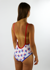 New Americana One-Piece Swimsuit ★ White - Rock N Rags