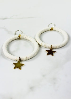 Dani California Hoop Earring ★ White - Rock N Rags