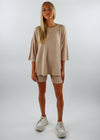 Softie Tee and Biker Short Set ★ Tan