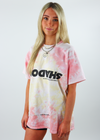 shadow hill, pink lemonade freedom, t-shirt, pink yellow tie-dye, oversized
