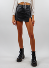 Bad and Boujee Skort ★ Black Leather