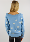 The Sweet Life Sweater ★ Baby Blue with Stars