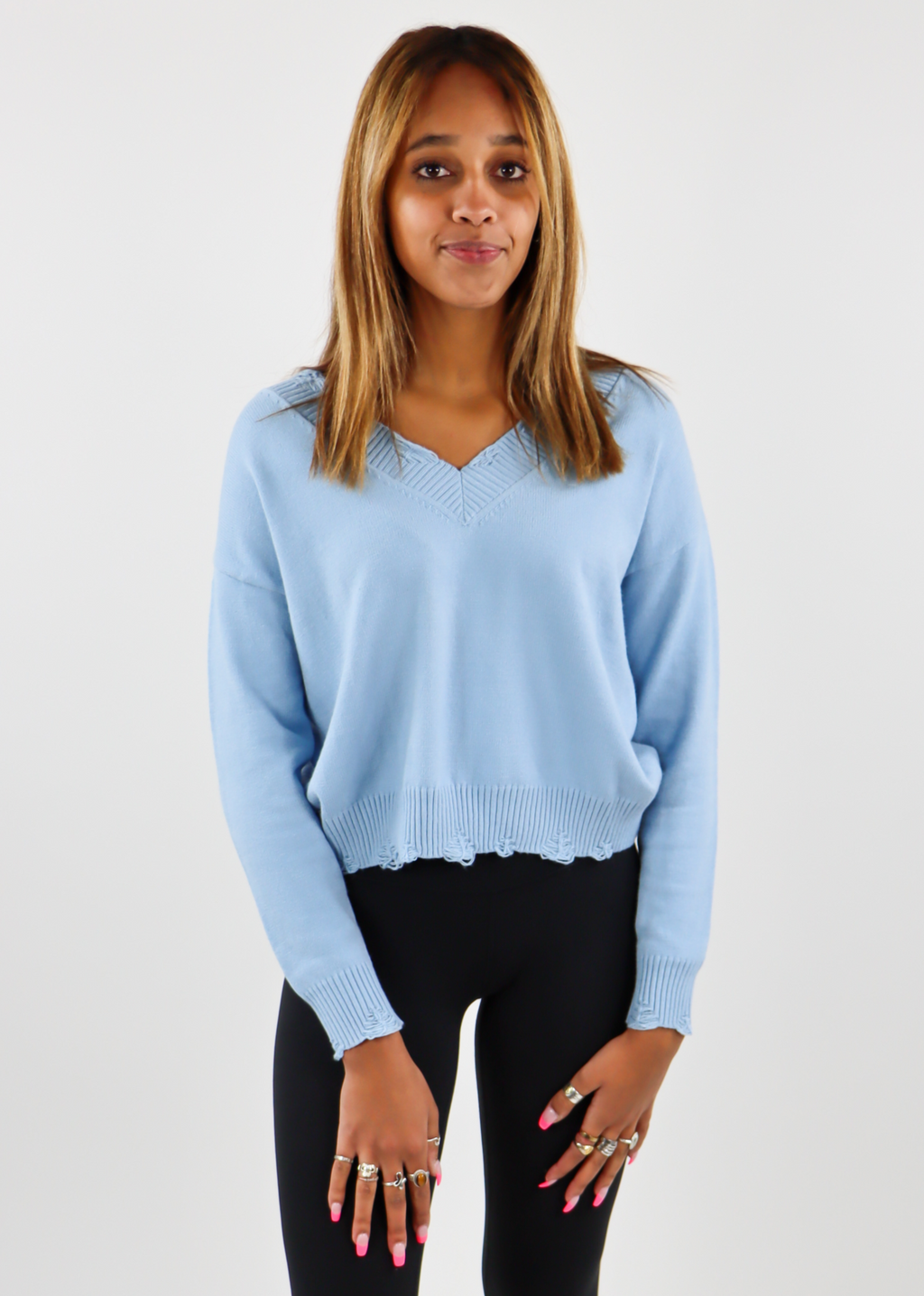 The Sweet Life Sweater ★ Baby Blue - Rock N Rags