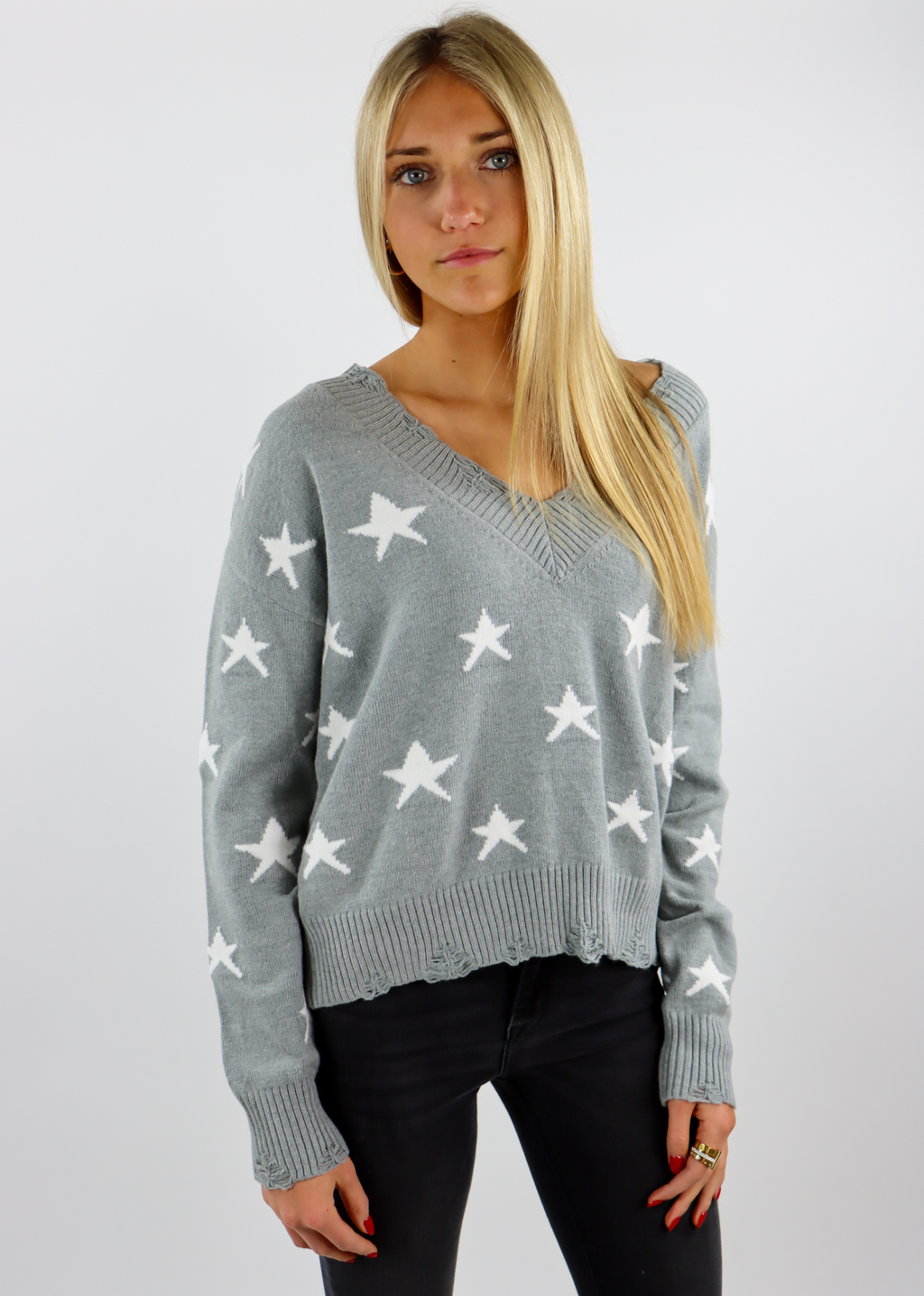 The Sweet Life Sweater ★ Grey Stars - Rock N Rags
