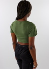 Butterfly Kisses Top ★ Olive Green