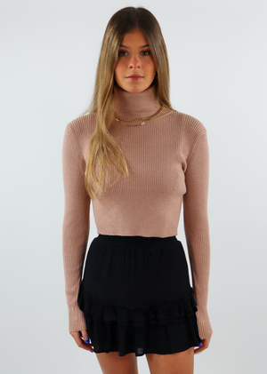 Everybody Cropped Turtleneck ★ Taupe
