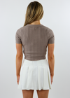 High Class Short Sleeve Top ★ Taupe
