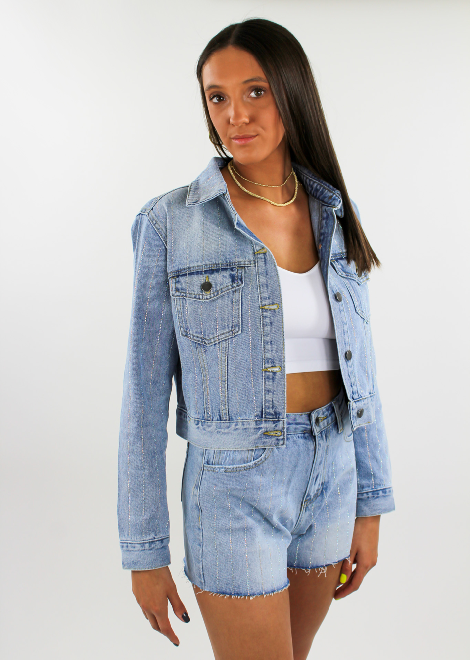 Shine On Denim Jacket ★ Light Blue - Rock N Rags