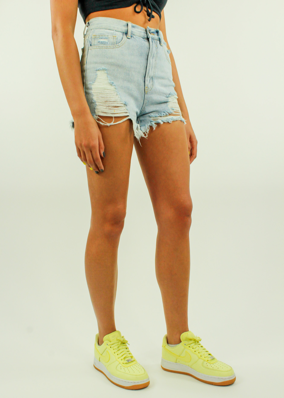 In Repair Shorts ★ Light Wash Denim - Rock N Rags