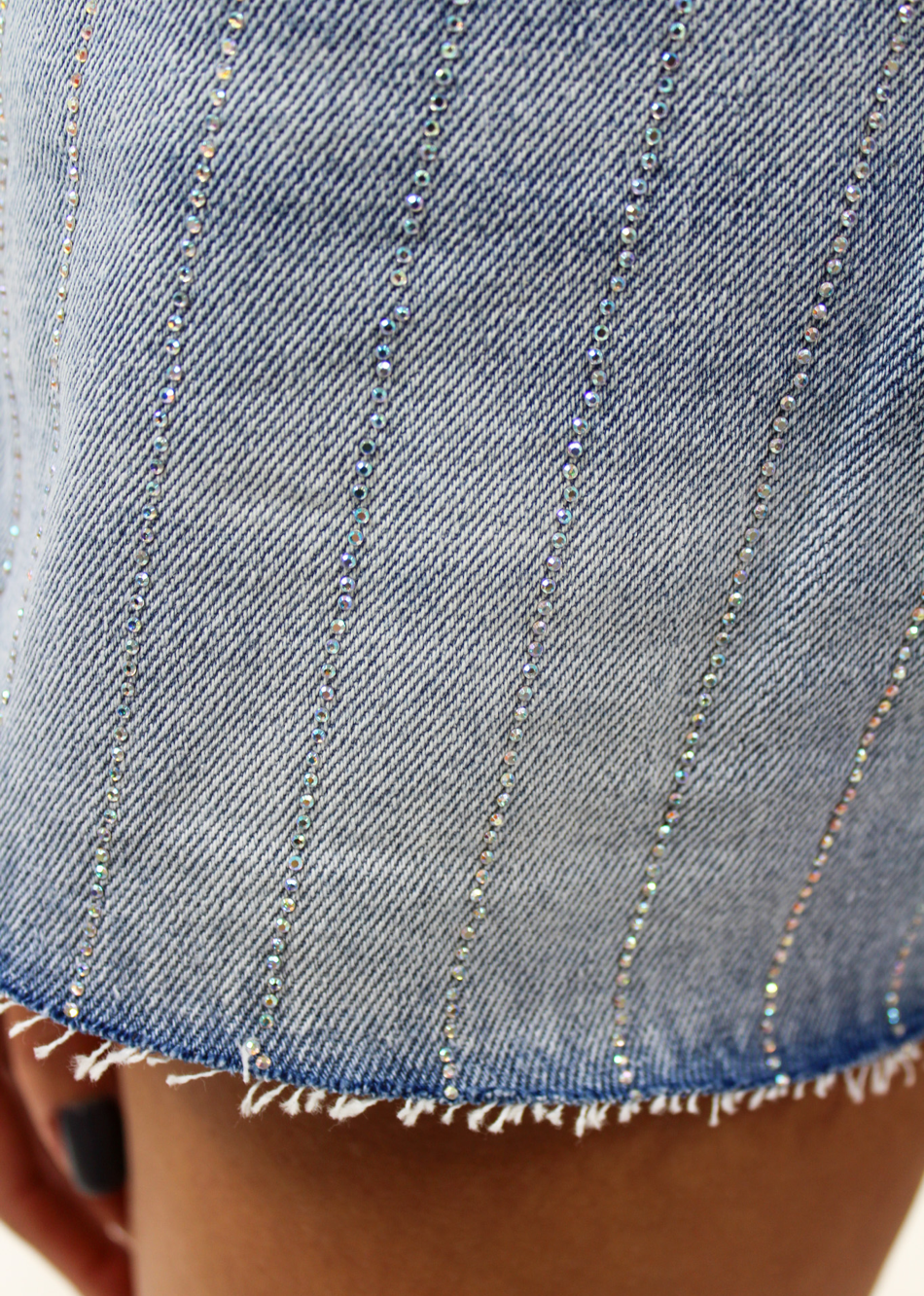 Shine On Denim Shorts ★ Light Blue - Rock N Rags