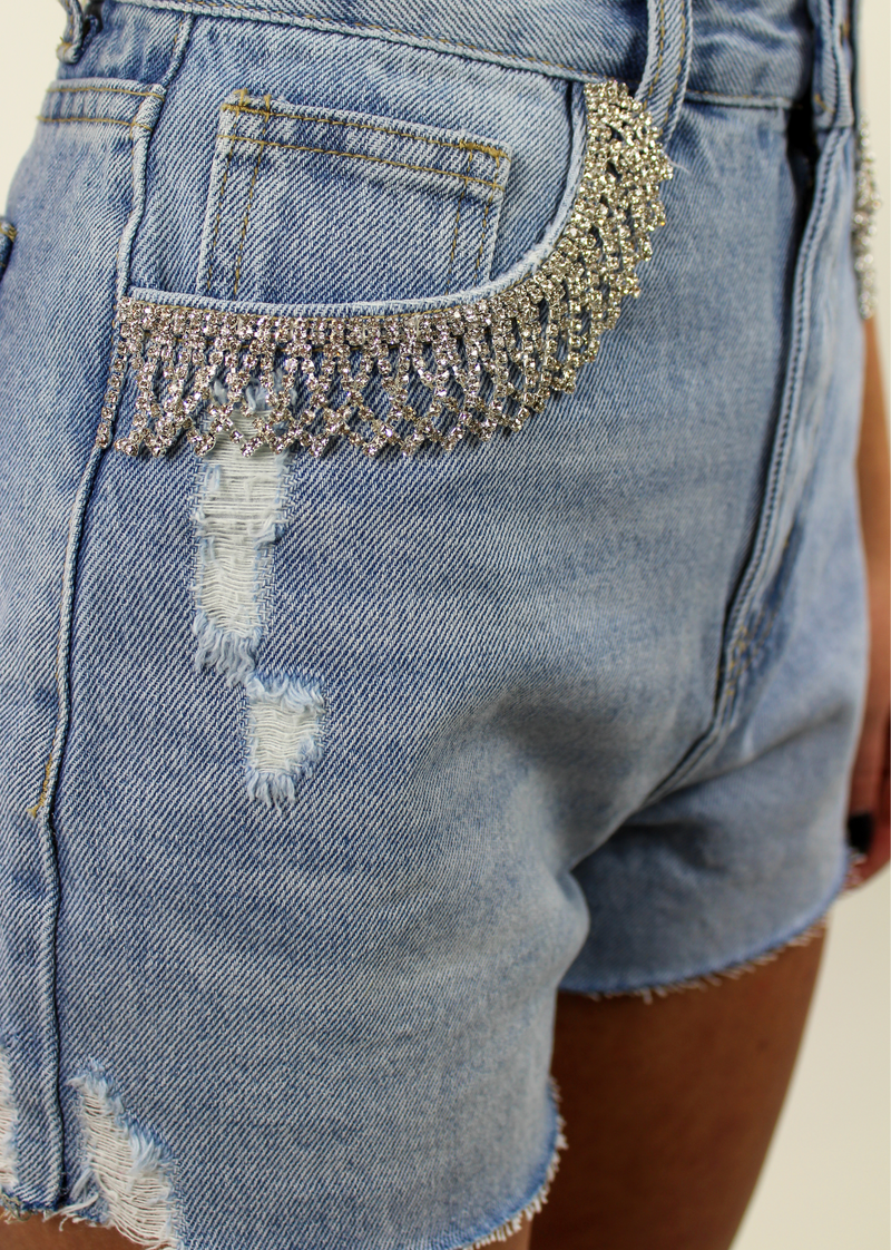 Wow. Shorts ★ Light Wash Denim - Rock N Rags