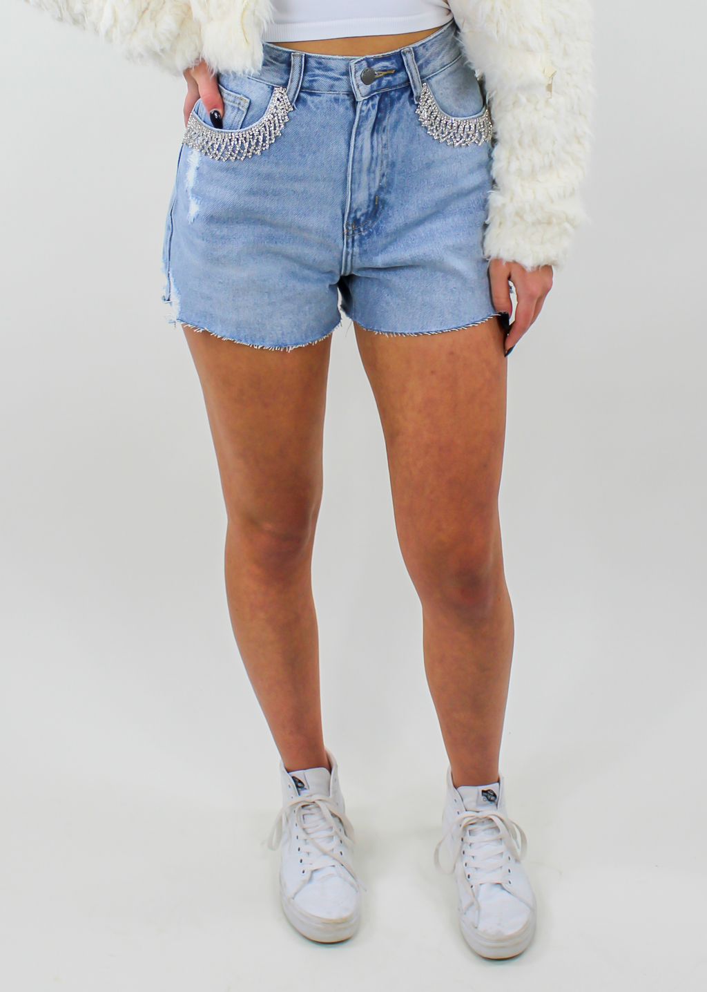 Wow. Shorts ★ Light Denim - Rock N Rags